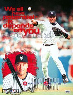 derek jeter sport poster new york yankees