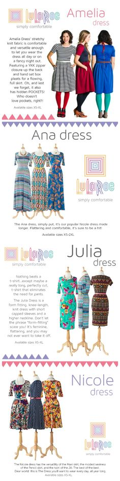 LuLaRoe Dresses!! I just bought a Julia, now I'm wondering if my shape would look better in a Nichole instead