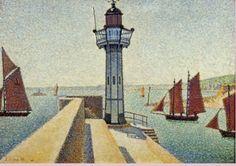 Paul Signac. Lighthouse in Saint-Quay, Brittany