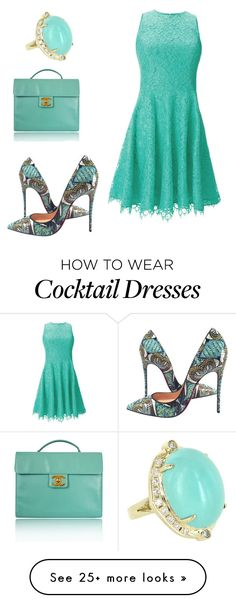 """""""Untitled #684"""" by habibati on Polyvore featuring Vintage, Shoshanna, Christian Louboutin and Chanel"""