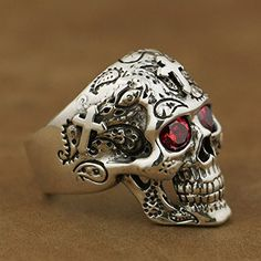 Men's Gemstone Rings Skull Earrings, Skull Jewelry, Antique Jewelry, Men's Jewelry, Silver Jewelry, Mens Skull Rings, Ring Boy, Style Masculin, Engagement Rings For Men