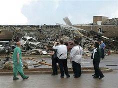 Oklahoma tornado damage- Moore Medical center on May 20th, 2013
