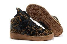 more photos cf1d6 96852 Famous Cheap Women Adidas Originals by Jeremy Scott Big Tongue Leopard Shoes  On Sale