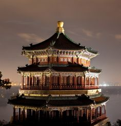 The Summer Palace pictured at night in Beijing
