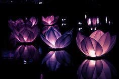 Purple/ lotus like/ sculpture