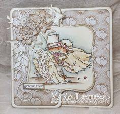 Lene'S Stempelkrok: Kjærlighet Distress Ink, I Card, Wedding Cards, Lens, Paper, Projects, Art, Creative, Wedding Ecards