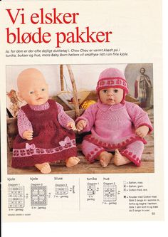 Album Archive - Juletøj til mig og mine dukker Crochet Dolls, Crochet Hats, Baby Born, Little Darlings, Baby Booties, Doll Patterns, Baby Dolls, Doll Clothes, Pikachu