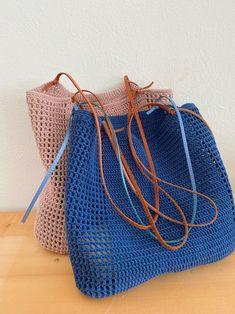 Crochet Tote, Crochet Handbags, Tunisian Crochet, Knit Crochet, Unique Bags, Summer Bags, Knitted Bags, Handmade Bags, Bucket Bag