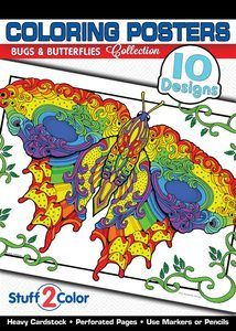 Bugs & Butterflies Coloring Posters