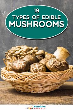 What are the different types of edible mushrooms? Here's a complete guide to all the common mushroom options. #mushrooms #nutrition