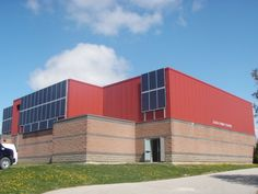 Elora Public School 12.00kW Custom Solar Power System Solar Power System, Public School, Willis Tower, Rooftop, Warehouse, Schools, Building, Solar Energy System, Buildings