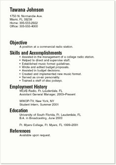 sample resumes for part time jobs