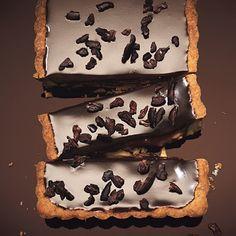 "Chocolate decadence describes this ""Milk Chocolate-Caramel Tart with Hazelnuts and Espresso"" #recipe #WWloves"