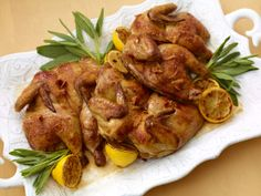 Butterflied Cornish Hens with Sage Butter from FoodNetwork.com