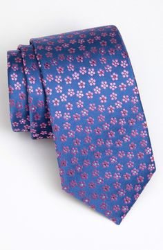 Thomas Pink Woven Silk Tie. Nordstrom.