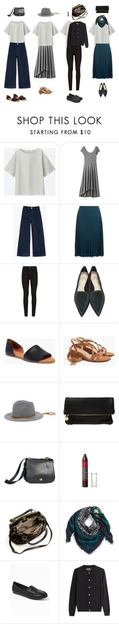 """""""32117"""" by areasonablydressedwoman ❤ liked on Polyvore featuring Uniqlo, Gap, JESSE KAMM, New Look, Paige Denim, Nicholas Kirkwood, Madewell, J.Crew, San Diego Hat Co. and Clare V."""