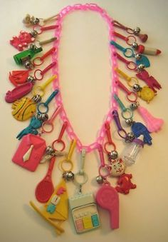 Charm Necklace....Wow, this really takes me back. There was a time in my life when THIS was what it was all about.