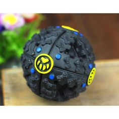 3 Size S/M/L Black Dog Toy Funny Squeaky Leakage Pick up Food Balls Pet Cat Treat Holder Puppy Chew Training Supplies