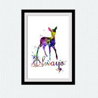 Harry Potter always print Harry Potter always poster Watercolor print Colorful poster Home decoration Kids room poster gift for kids  W231