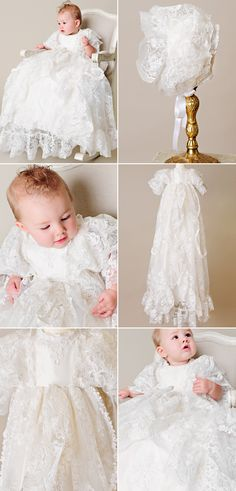All the heirloom qualities of the actual gown used by the Royals, the Royal Christening Gown is a stunning gown will be pasted down through the generations!