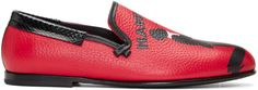 DOLCE & GABBANA Red Mambo Loafers. #dolcegabbana #shoes #flats