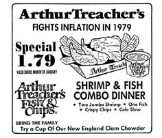 Arthur Treacher, Crispy Chips, Vintage Menu, Clam Chowder, One Fish, Fish And Chips, Clams, New England, Bring It On
