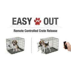 EasyOut Remote Pet Cage Door Opener Single Latch Black >> New and awesome dog product awaits you, Read it now  : Dog crates