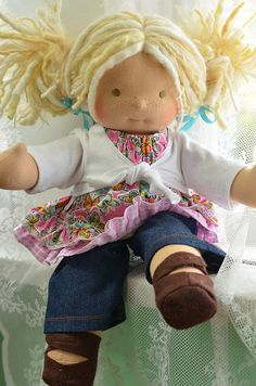 Handmade doll by Bamboletta.