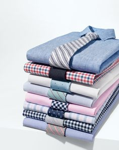 J.Crew men's dress shirts. We handpicked fabrics and spent our time getting the fit just right, so even when your suit jacket is off, your style is very much still on.