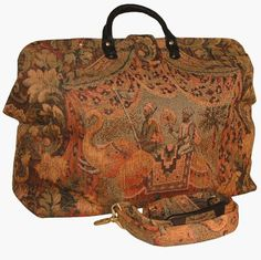 Dude! Let's be carpetbaggers! YaY! ArtisanStreet's Elephant Adventure Tapestry Carpet Bag