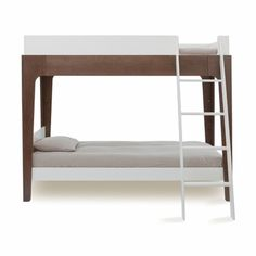 Oeuf Perch Bunk Bed in White & Walnut