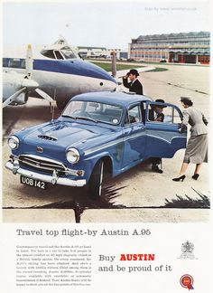 A 1958 Austin vintage advert from Retrofair the specialist supplier of original century magazine ads and prints British Family, Great British, Austin Cars, Old Bikes, Car Photos, Vintage Cars, Cool Cars, Ads, Advertising