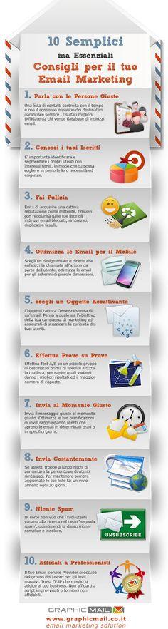 10 semplici Consigli per il Tuo Email marketing #infografica #infographic