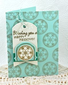 Mazel Tov Revisited - Happy Passover Card by Dawn McVey for Papertrey Ink (November 2012)