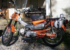 Honda specs and paint colors- CycleChaos Honda Bikes, Honda Motorcycles, Honda Cub, Bike Trails, Scrambler, Back In The Day, Bicycles, Motorbikes, Offroad