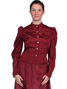 Scully Classic 1880's Style Blouse with Large Puff Sleeves at Viomart.com