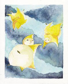 """""""Stelle Cadenti"""" - da """"Tre stelle e un vestitino""""  #ChildrenIllustration #Illustration"""
