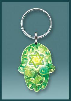 KC124 Jewish Key Chain - Eco Hamsa by Mickie Caspi