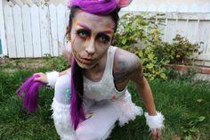 Katie's amazing Zombie Unicorn costume stunned on Halloween!