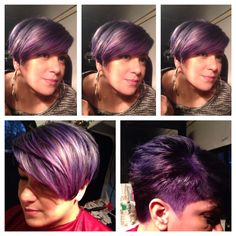 Purple hair My work