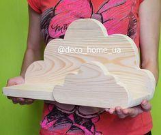 """Полочка """"Облака"""" Добавит в ваш интерьер особую атмосферу. На облаке можно будет разместить свои любимые игрушки! Размер и цветовая гамма изделия индивидуальна каждому заказу! Мебель ручной работы из натурального дерева. #deco_home_ua #облакополка #полка #облочко #подарок #оригинальныйподарок #длядетей #метрика #акция #метрика_в_подарок"""
