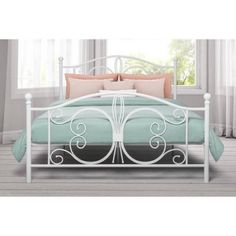 Dorel Home Products Bombay White Metal Bed, Full