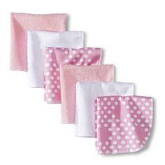 Circo® Newborn Girls' 6 Pack Washcloth Set - Pink/White$4.99