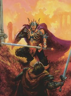 Dragonlance, Warriors Series, Knights of the Sword by Jeff Easley.