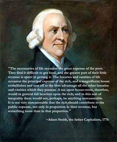 Adam Smith, founder of Capitalism