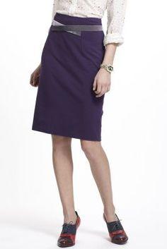 Velvet-Crossed Ponte Skirt Purple Skirt bc8a7ceb69