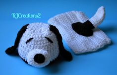 Snoopy Dog hat and diaper cover by kjcreations2 on Etsy, $35.00
