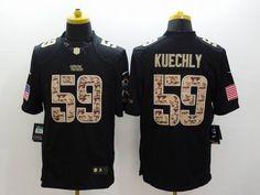 Nike Carolina Panthers 59  Luke Kuechly Limited Black Salute To Service  Jersey 22.5  Ray c6b6ba73b
