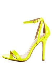 Neon Single Strap Heels 28.99