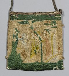 14th Century French Handbag With Scenes From The Story Of Patient Griselda